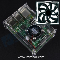 Caja Acrilico RaspBerry Pi+ FAN