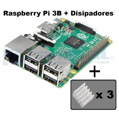 Raspberry Pi 3 Modelo B + Disipadores Incluidos