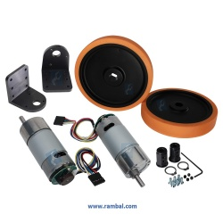Motor Soporte y Ruedas Kit-2