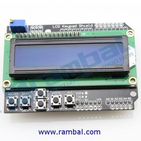 Shield Display LCD 2x16 azul + Teclado