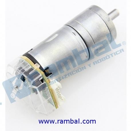 Motor DC de Engranaje + Encoder 95RPM