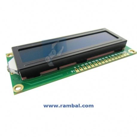 Pantalla LCD 16x2 Blanco sobre Azul