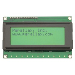 Parallax 4x20 Serial LCD (Backlit)