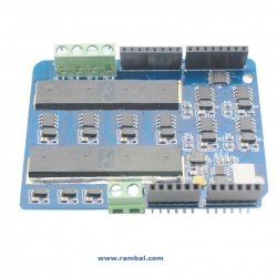 Shield Controlador dos motores (2x8 Amp)