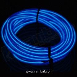 El Wire Neon - Azul Fosforescente 2mt