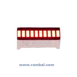 Led 10 Segmentos Modelo Grafico Barra. Color rojo