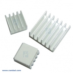 Tres Disipadores de Calor con adhesivo