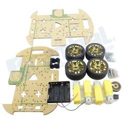 Kit plataforma de robot/auto Encoder 4WD
