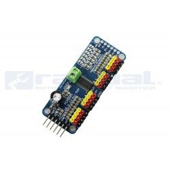 Controlador servo PWM de 16 canales con interface I2C