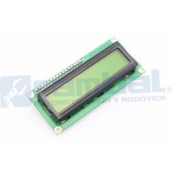 Pantalla LCD 16x2 Amarillo