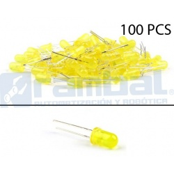 LED Basico Amarillo - 5mm - 100pcs