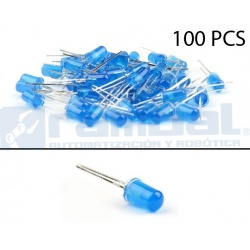 LED Basico Azul - 5mm - 100pcs