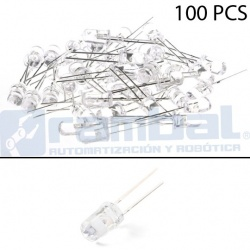 LED Basico Blanco - 5mm - 100pcs