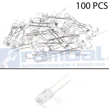 LED Basico Blanco - 5mm - 100pcs