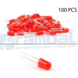 LED Basico Rojo - 5mm - 100pcs