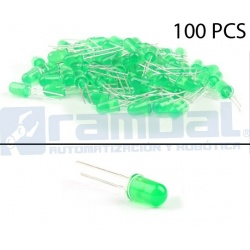 LED Basico Verde - 5mm - 100pcs