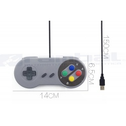 Control USB SuperNintendo Plug n Play para PC-MAC