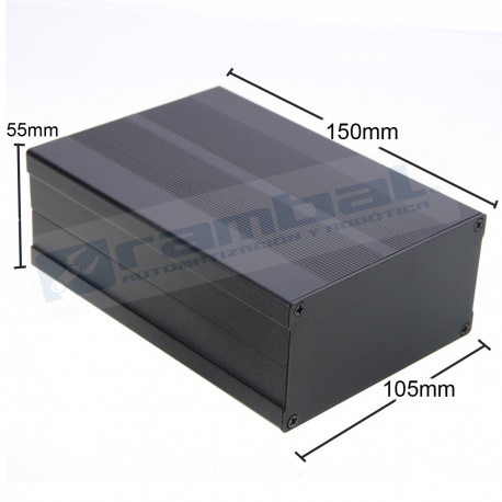 Caja BOX Contenedora de Aluminio 150x105x55mm