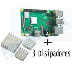 Raspberry Pi 3 Modelo B+(Plus) Mas 3 Desipadores