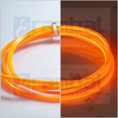 El Wire Neon - Naranjo Fosforescente 2mt