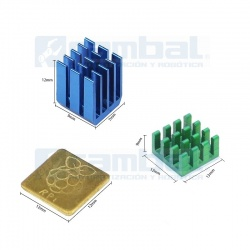 Kit Disipadores alta eficiencia RPi