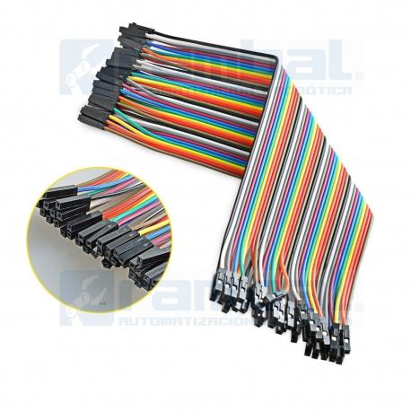 Cable dupont 20 cms (hembra-hembra)