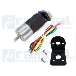 kit motor reductor con encoder 100rpm con soporte