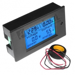 LCD digital con voltímetro y amperímetro (AC)
