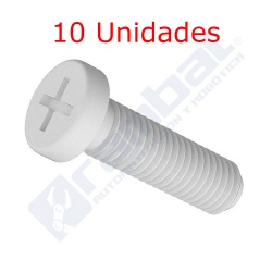 Tornillo Cruz Nylon M3 8mm
