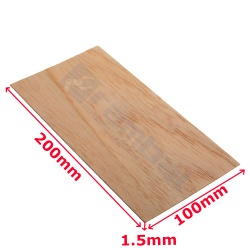 Lamina de madera - Wood sheet 100x200mm