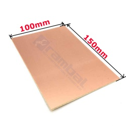 Tarjeta PCB Virgen Doble Cara - Copper Double Side Plate 100x70mm