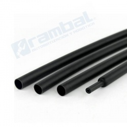Tubo Termoretráctil 2:1 5mmx10m negro