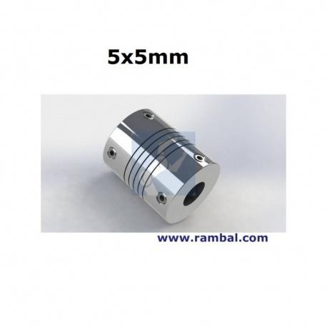 Flex Shaft Acoplamiento 5x5 mm.
