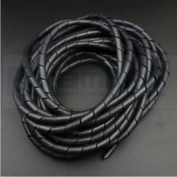 retardante de llama negro banda espirales 10x8