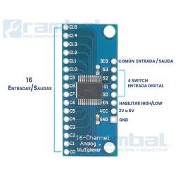 Modulo Multiplexor Digital/Analogico de 16 canales CD74HC4067