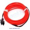 El Wire - Rojo Fosforescente 2mt
