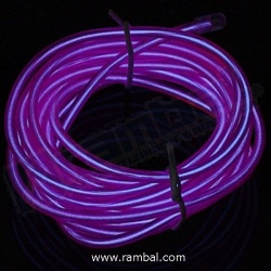 El Wire Neon Purpura Fosforescente 2mt