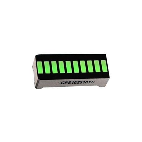 Led 10 Segmentos Modelo Grafico Barra. Color verde